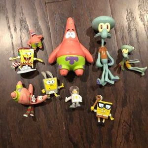 Assorted Spongebob Figureens + 3 Ornaments